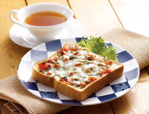 大葉とトマトのチーズトースト